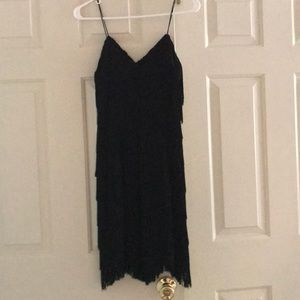 Beautiful, fun black cache fringe dress